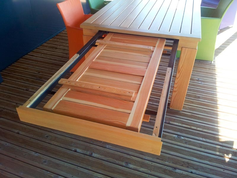Ebeniste menuisier cr ation de tables b niste menuisier paulhe et fils toulouse - Table d activite exterieur ...