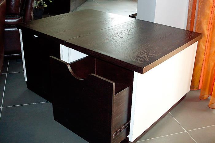Meuble-TV-en-stratifie-blanc-brillant-table-basse-avec-tiroir ...