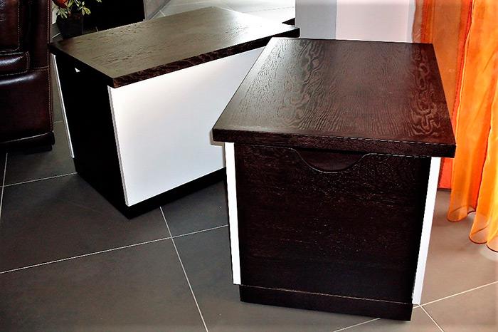 meuble tv en stratifie blanc brillant table basse avec tiroir integre pour bouteilles ou verres. Black Bedroom Furniture Sets. Home Design Ideas
