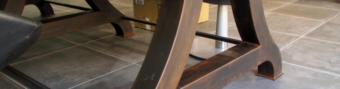 pied-table-acier-ebeniste-menuisier-toulouse-rodez